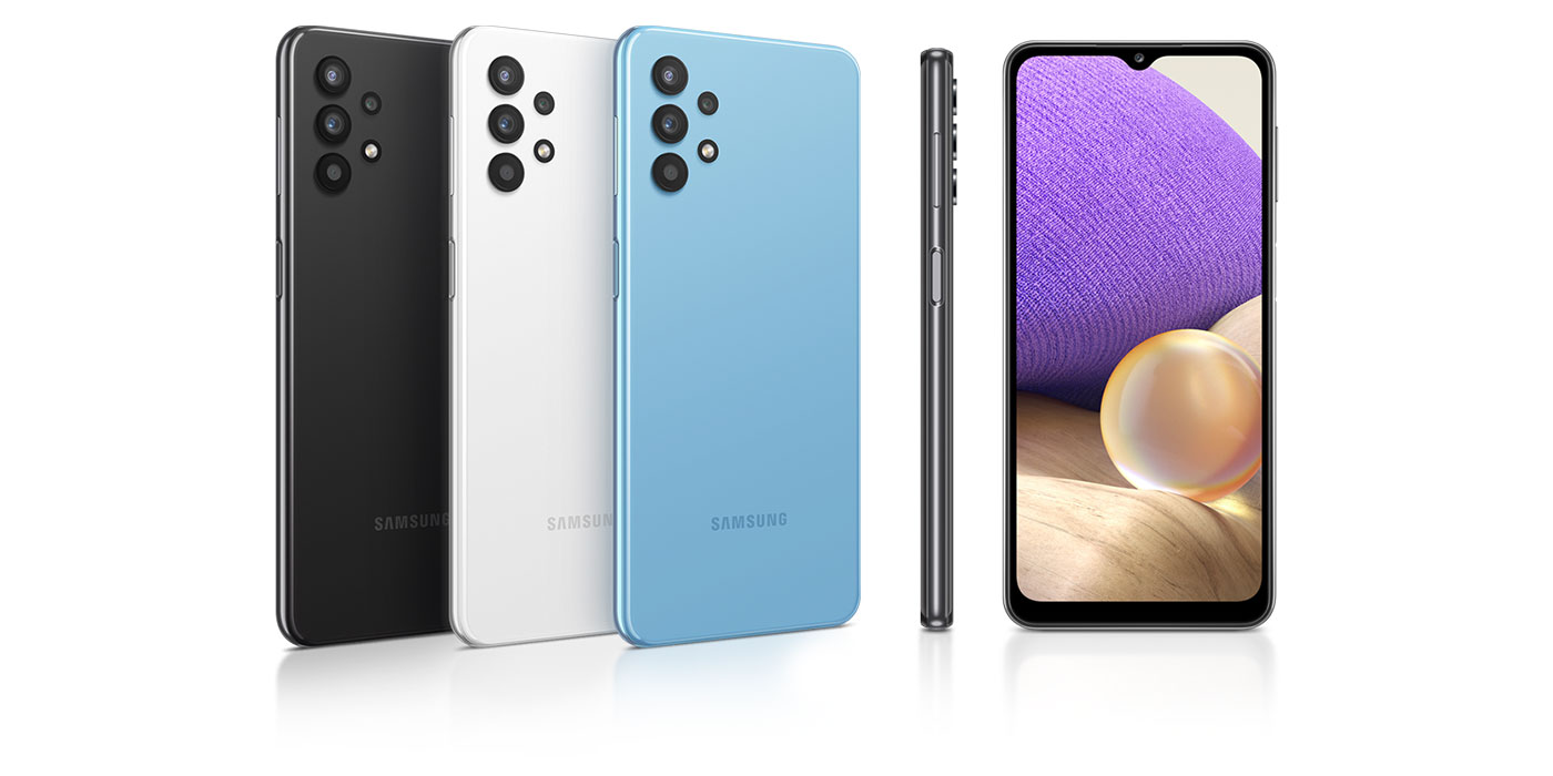 Telefony pokazane z tyłu, z boku i z przodu przedstawiała dostępne kolory i smukły wygląd
