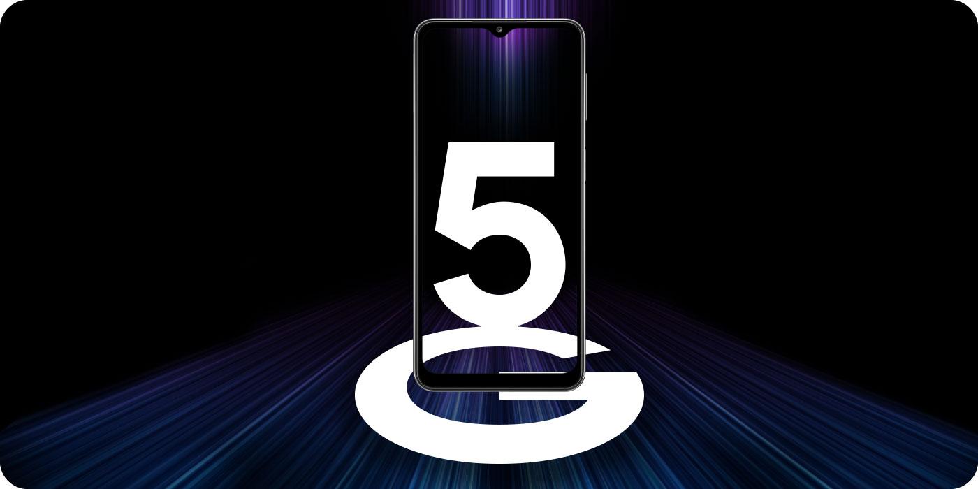 Telefon Galaxy A32, na ekranie telefonu informacja o technologii 5G