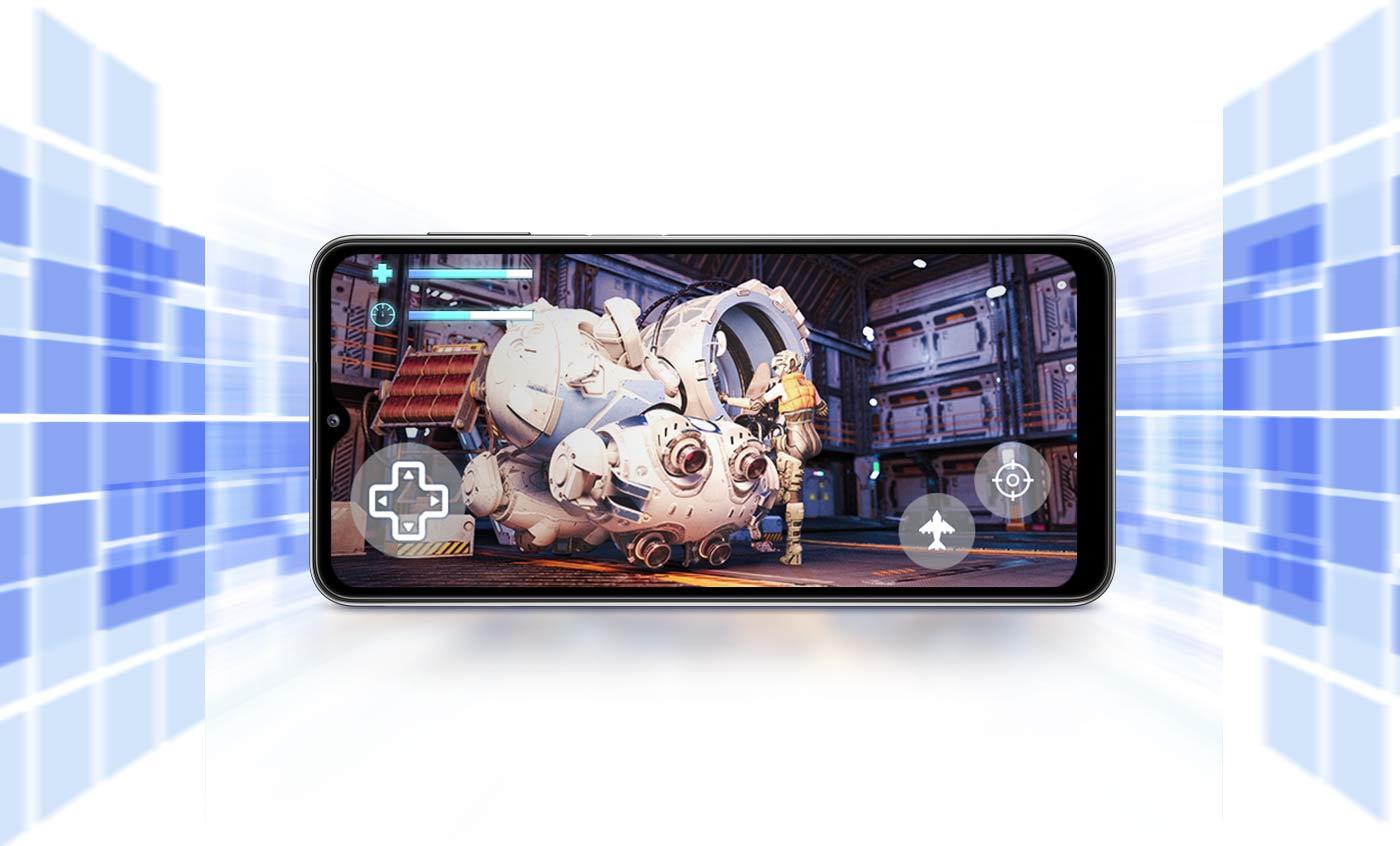 Na ekranie telefonu uruchomiona gra, przedstawia wydajne działanie podczas grania