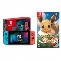 Konsola NINTENDO Switch Red & Blue Joy-Con + Gra Pokemon Let`s Go Eevee