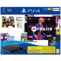 Konsola SONY PlayStation 4 Slim 500GB F Chassis + FIFA 21 + Dodatek FIFA Ultimate Team + PlayStation Plus 14 dni