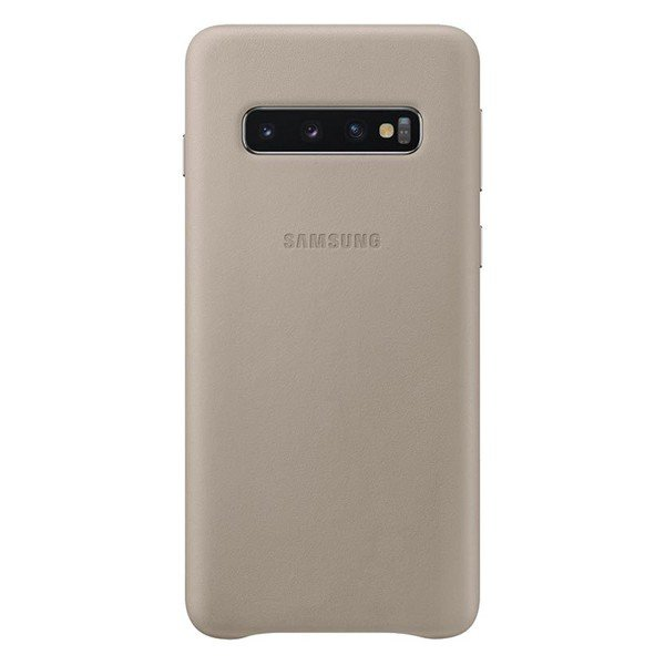 Etui SAMSUNG Leather Cover do Galaxy S10 szare