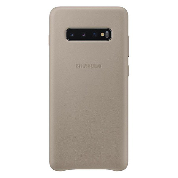 Etui SAMSUNG Leather Cover do Galaxy S10+ szare