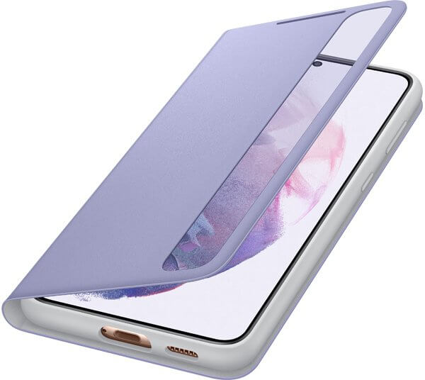 Etui SAMSUNG Smart Clear View Cover do Galaxy S21+ fioletowe