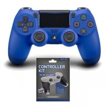 Kontroler SONY PS4 Dualshock 4 Wave Blue v2 + Controller Kit