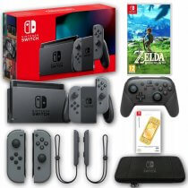 Konsola Nintendo Switch Grey 2019 + Zelda Breath of the Wild + Akcesoria