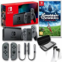 Konsola Nintendo Switch Grey 2019 + Xenoblade Chronicles: Definitive Edition + Akcesoria