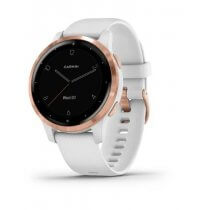 Zegarek Garmin Vivoactive 4S - Rose Gold [White Silicone Band]