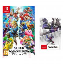 Gra NINTENDO Switch Super Smash Bros. Ultimate NSS676 + Figurka AMIIBO Smash Wolf 63 NIFA0666