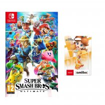 Gra NINTENDO Switch Super Smash Bros. Ultimate NSS676 + Figurka AMIIBO Smash Daisy NIFA0672