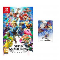 Gra NINTENDO Switch Super Smash Bros. Ultimate NSS676 + Figurka AMIIBO Smash Falco NIFA0652