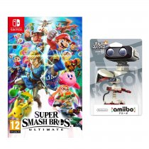 Gra NINTENDO Switch Super Smash Bros. Ultimate NSS676 + Figurka AMIIBO Smash R.O.B. Famicom 54 NIFA0654