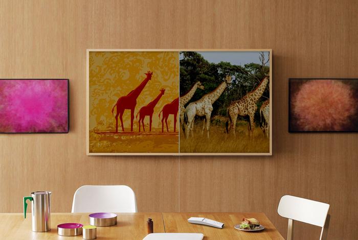 Galeria Sztuki Twoje Wnętrze Elegancki Dodatek Dzieło Obraz Ściana Telewizor