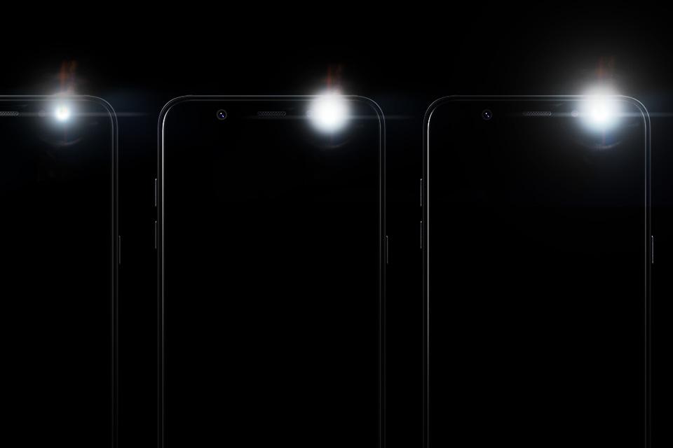Samsung Regulowana jasność błysku lampy