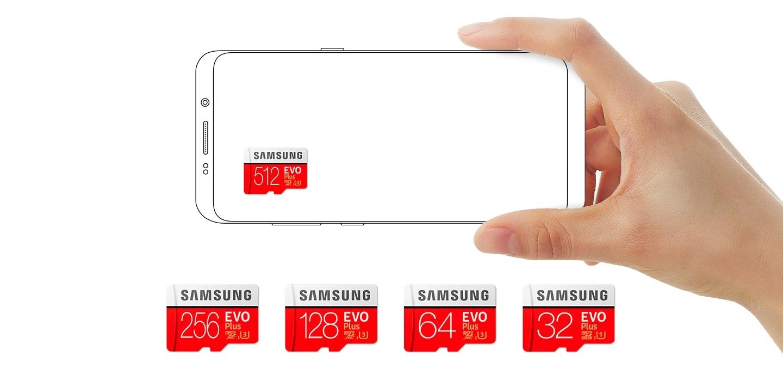 Samsung microSD z adapterem